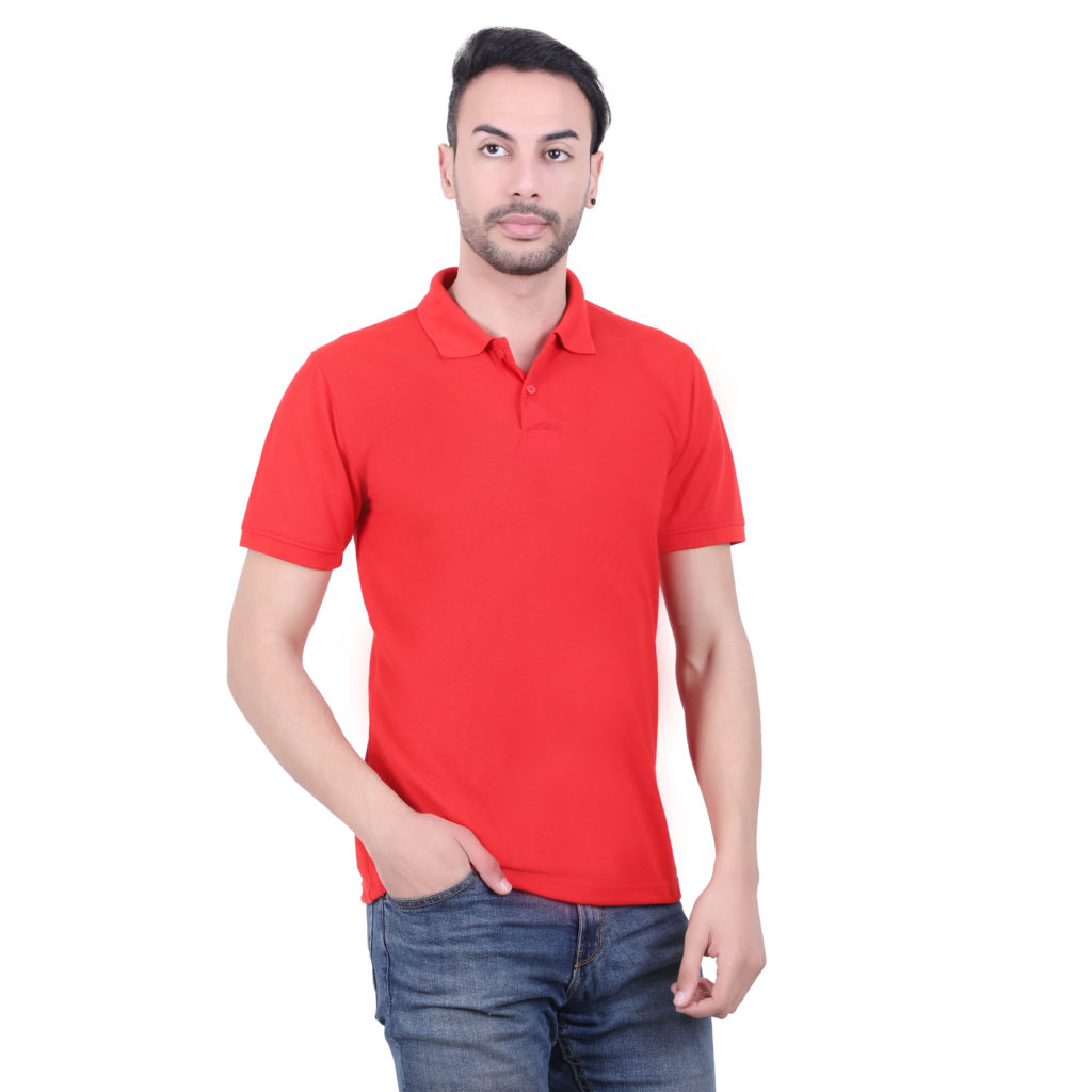 Polyester Red Tshirt